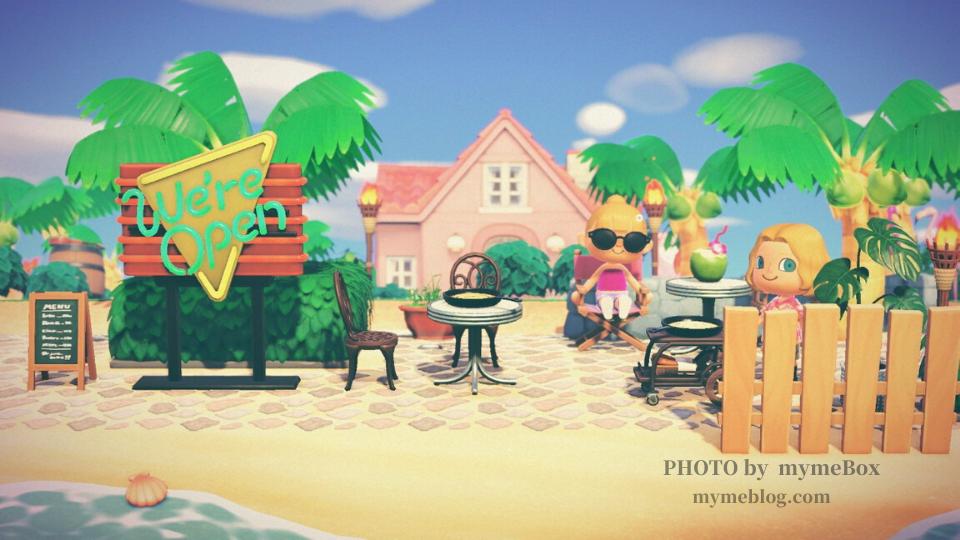 【あつ森】ハワイリゾートエリアの海辺のBar