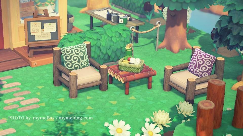 【あつ森】まめつぶの休憩スペース・斜め撮り