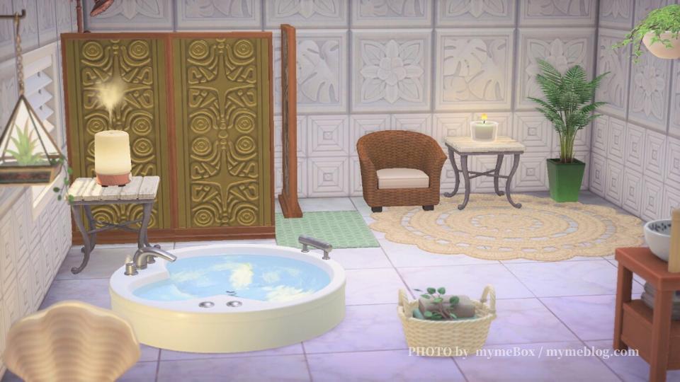 【あつ森】ジャグジーのあるバスルーム