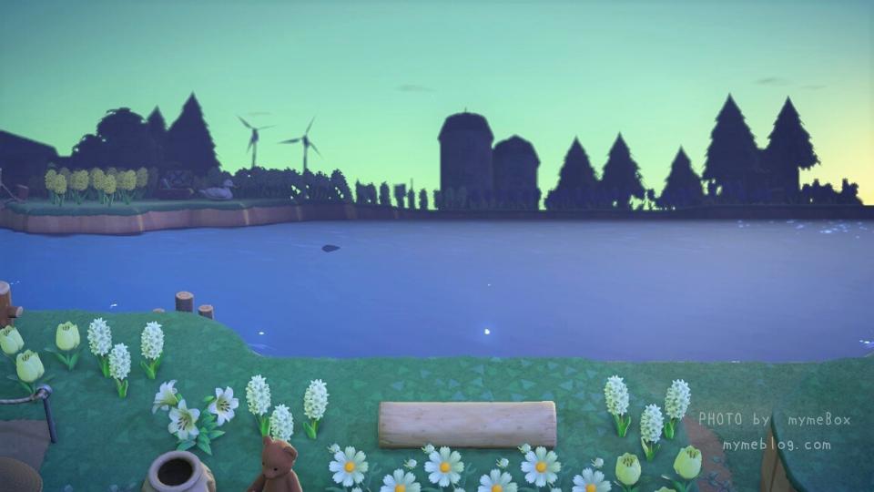【あつ森】大きな湖とヒヤシンス畑(AM5時)