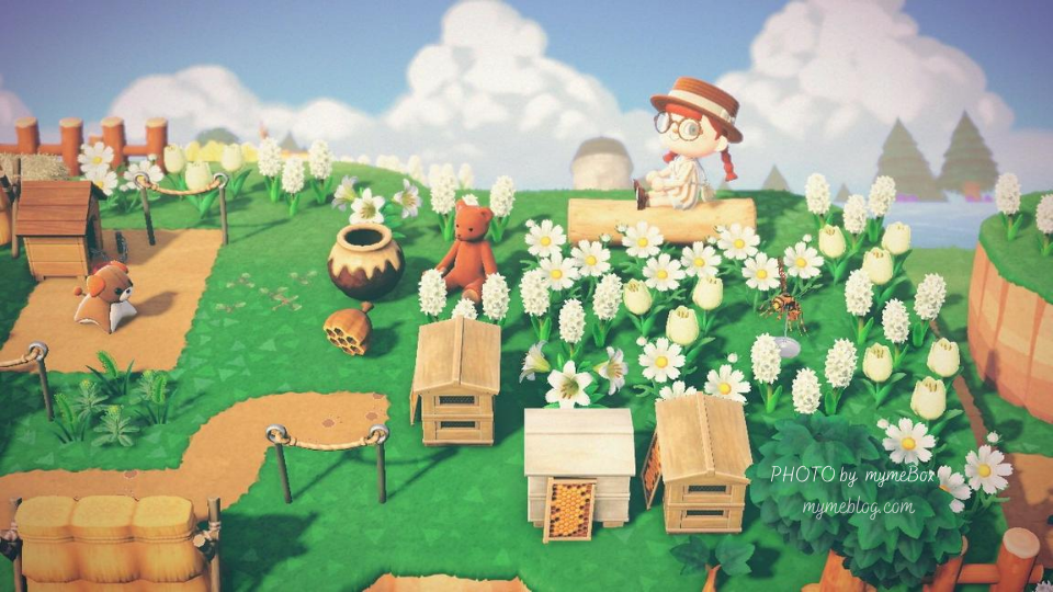 【あつ森】養蜂スペースと入道雲