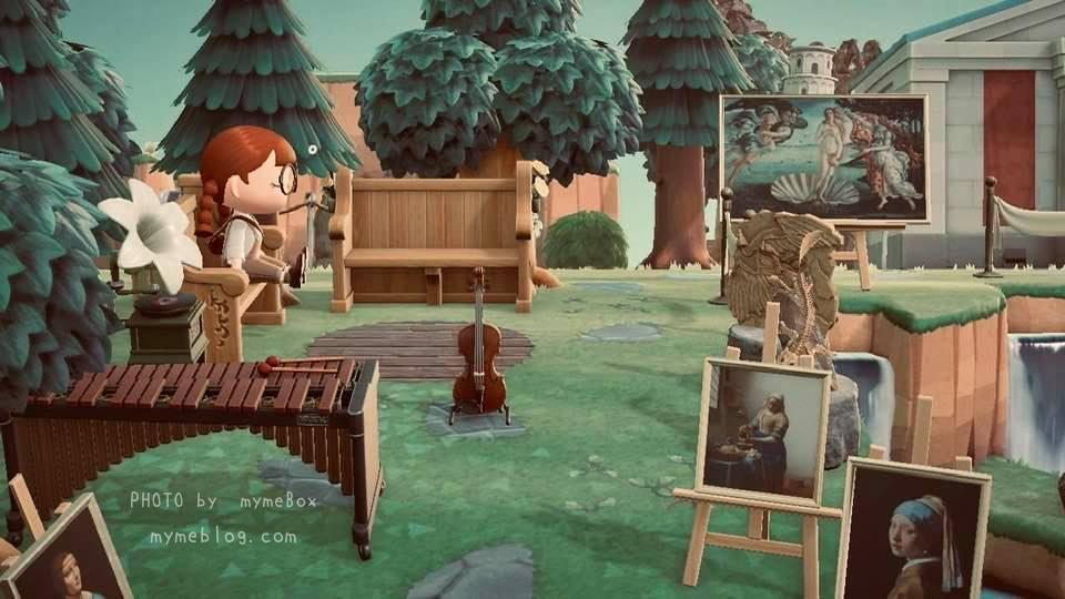 【あつ森】博物館周りのウェディングのベンチ