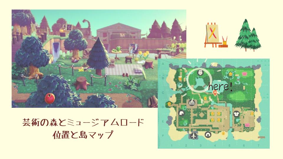 【あつ森】博物館周り・島マップ
