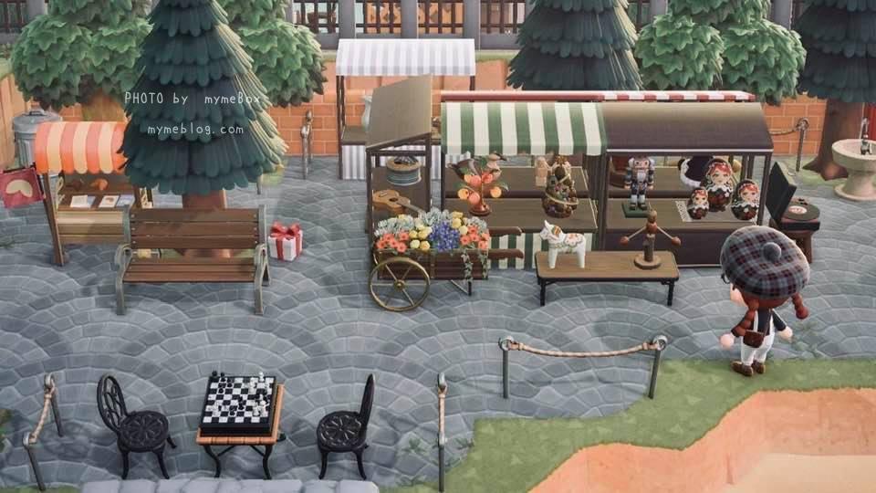 【あつ森】ヨーロッパの街並みとマーケット広場
