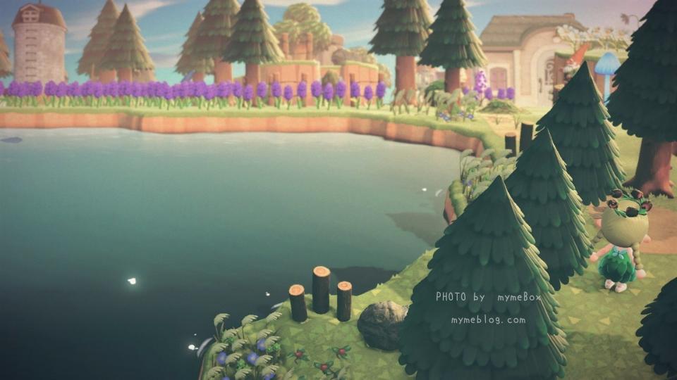 【あつ森】ナタリーが暮らす渓谷と大きな湖