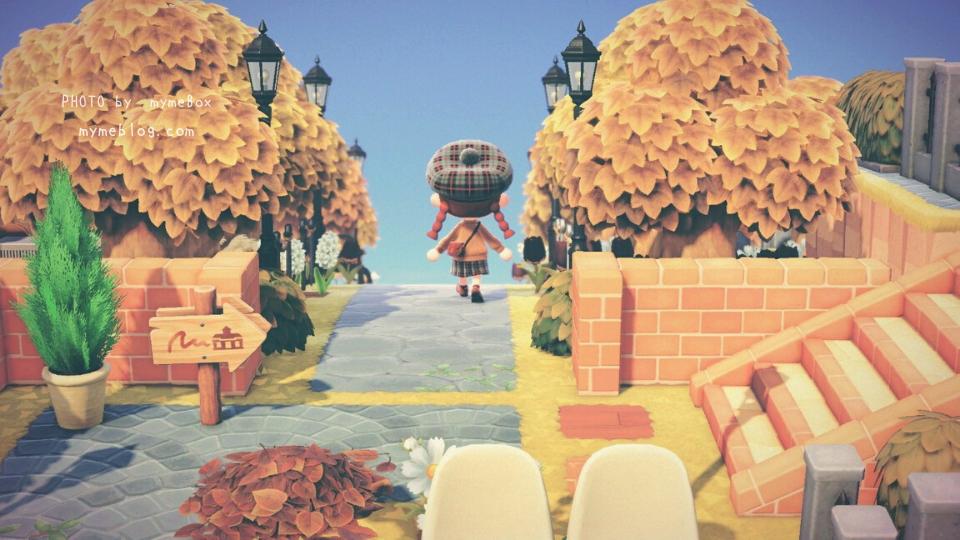 【あつ森】飛行場から案内所の紅葉並木道
