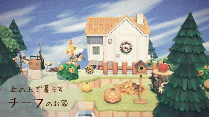 【あつ森】チーフのお家周りのレイアウト