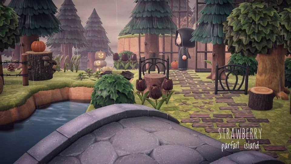【あつ森】森の中のハロウィン