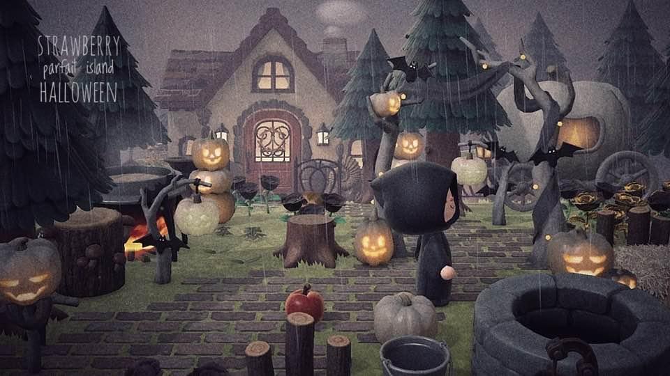 【あつ森ハロウィン】かぼちゃの馬車のレイアウト