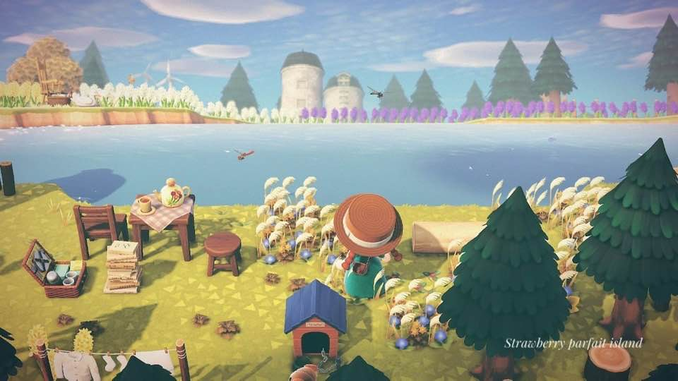 【あつ森】湖畔のピクニックスペースのクリエイト