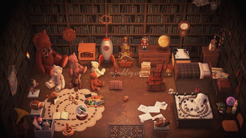 【あつ森】地下室のレイアウト「絵本の中みたいなおもちゃ部屋」