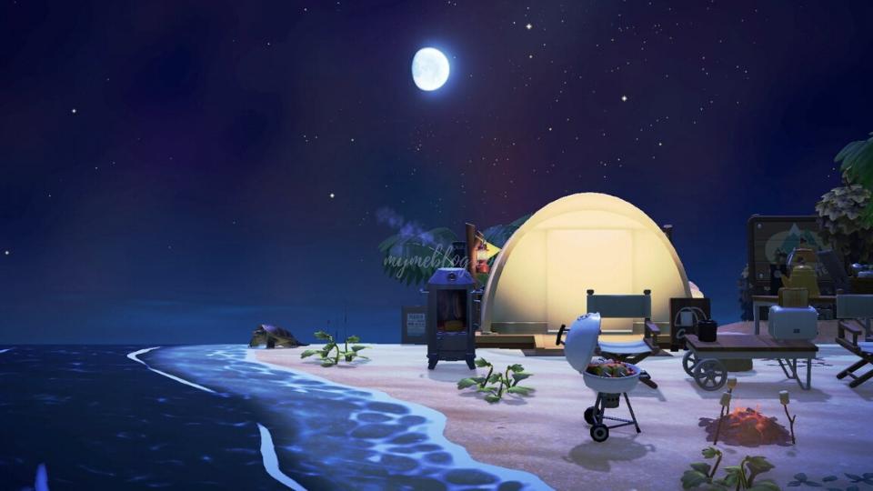 【あつ森】海辺のキャンプサイトのレイアウト~グランピング場~