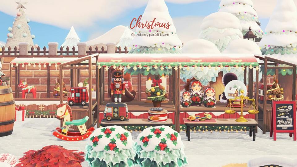 【あつ森】クリスマスマーケットのマイデザイン