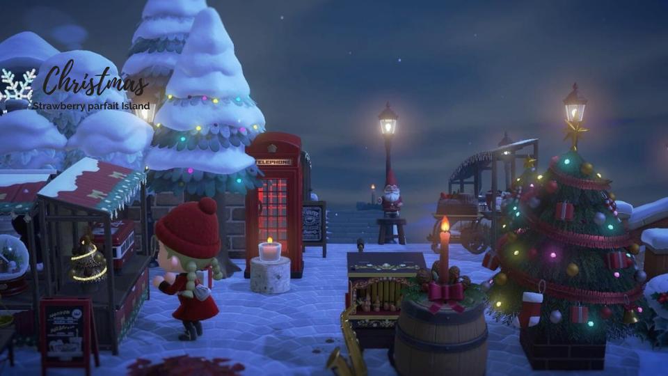 【あつ森】クリスマスマーケットのレイアウト