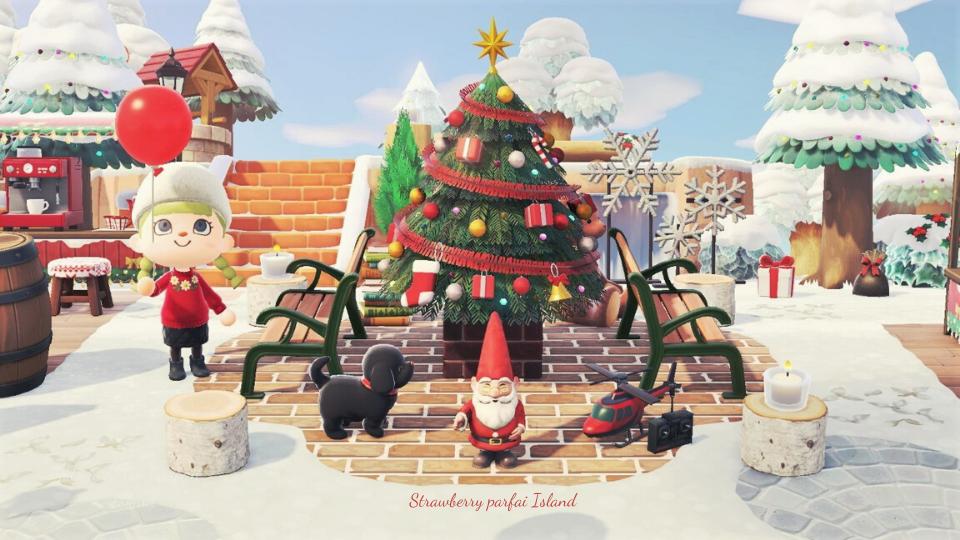 【あつ森】大きなクリスマスツリーのレイアウト