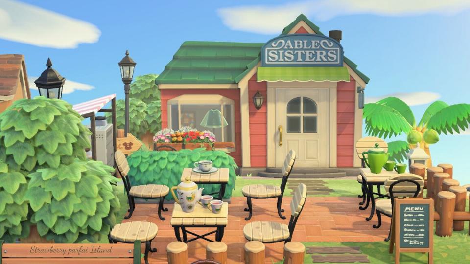 【あつ森】エイブルシスターズ周りのカフェのレイアウト