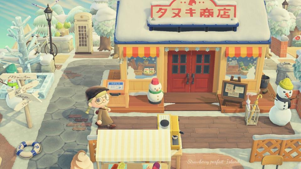 【あつ森】たぬき商店周りのおしゃれなレイアウト