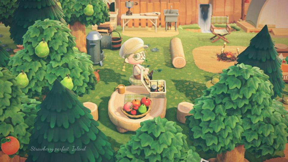 【あつ森】キャンプサイト周りのおしゃれなレイアウト