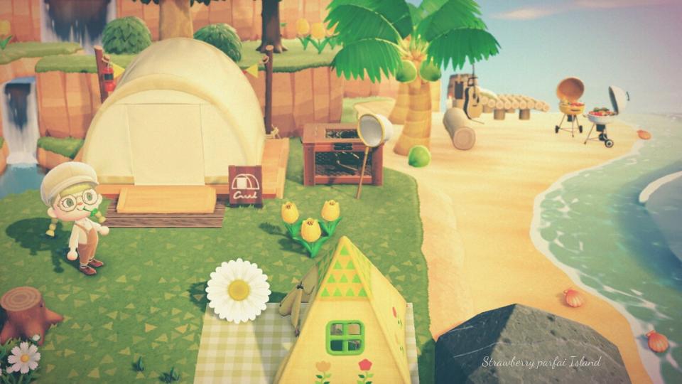 【あつ森】海辺のキャンプサイトのレイアウト