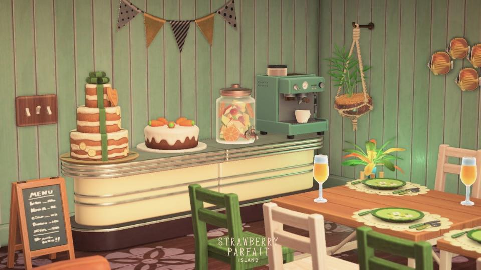 【あつ森】カーニバル家具を使ったカフェレイアウト