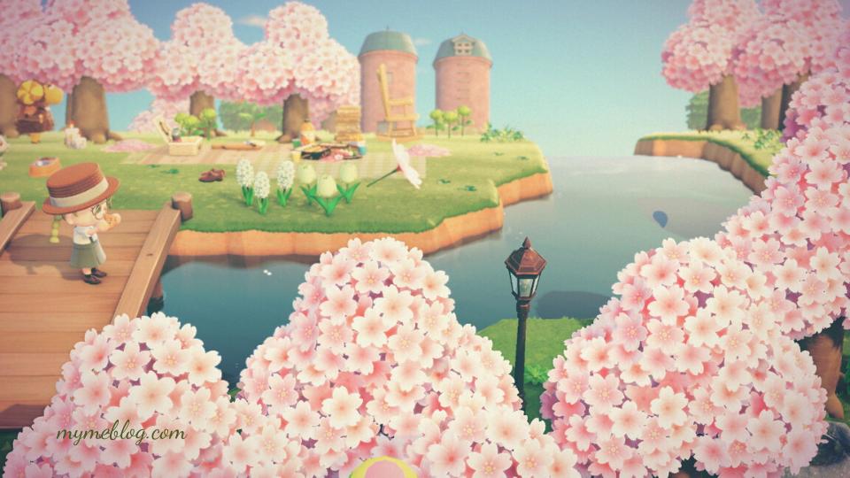 【あつ森】お花見エリアのレイアウト