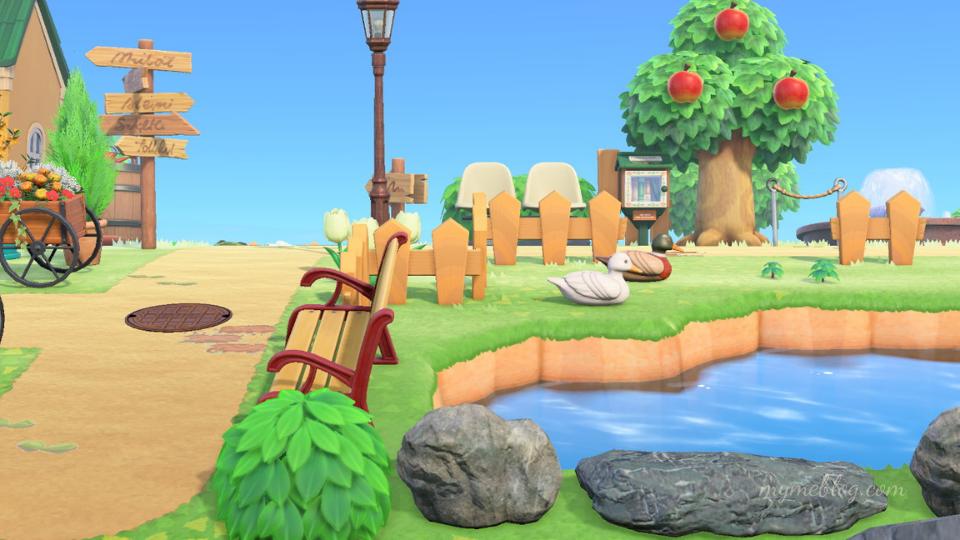 【あつ森】島の入り口のおしゃれで可愛いレイアウトの作り方