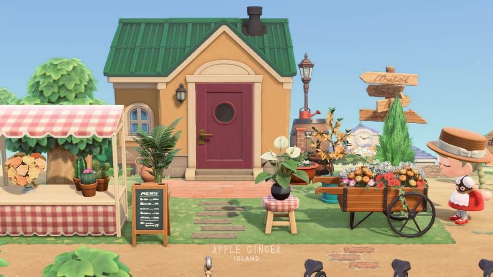 【あつ森】パッチの家の外観と園芸ショップ
