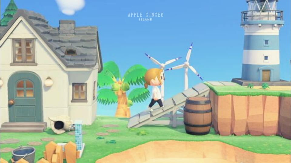 【あつ森】灯台岬のおしゃれなレイアウト