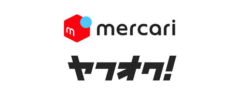 メルカリとヤフオクのロゴ