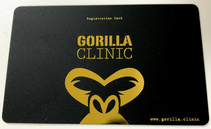ゴリラクリニック会員カード