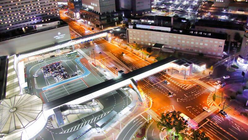 夜の広島駅