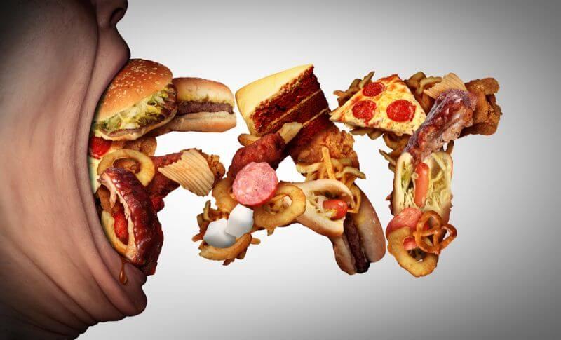 たくさん食べる肥満の人