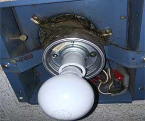 トイレの一体型換気扇と照明