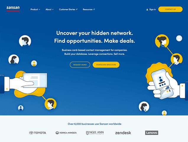 Sansan グローバルWebサイト