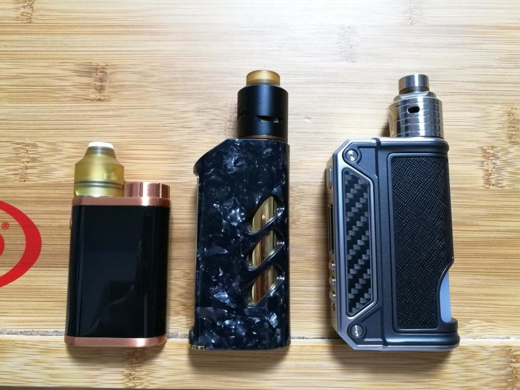 左:Pico・中央:STRIDE・右:THERION BF