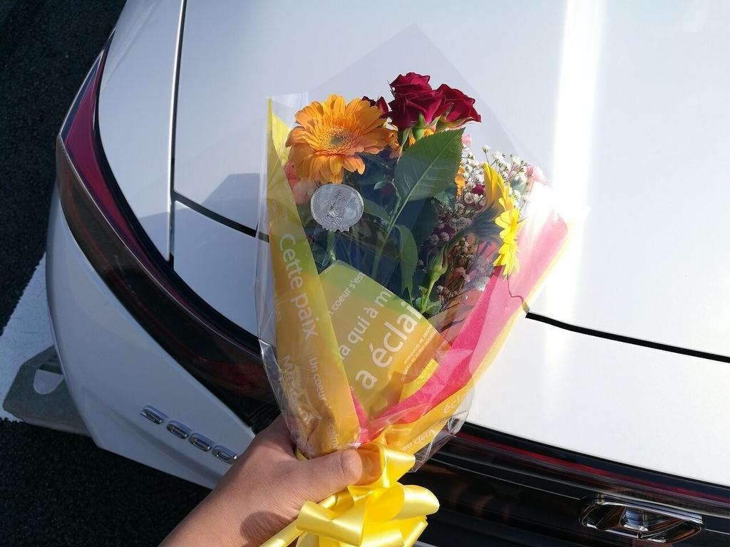 HONDA S660納車時にいただいた花束