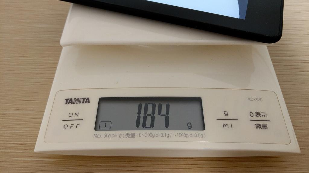 Kindle Paperwhite Newモデル 重量