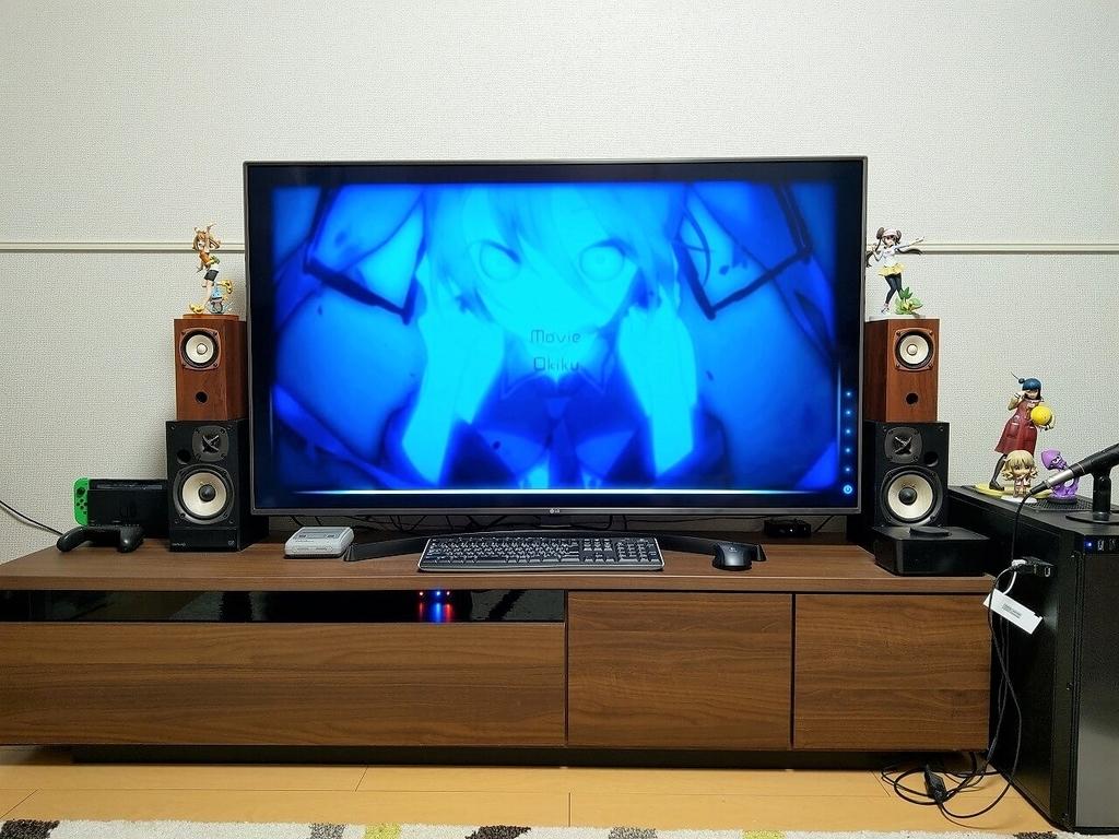 4Kテレビ+デスクトップPC