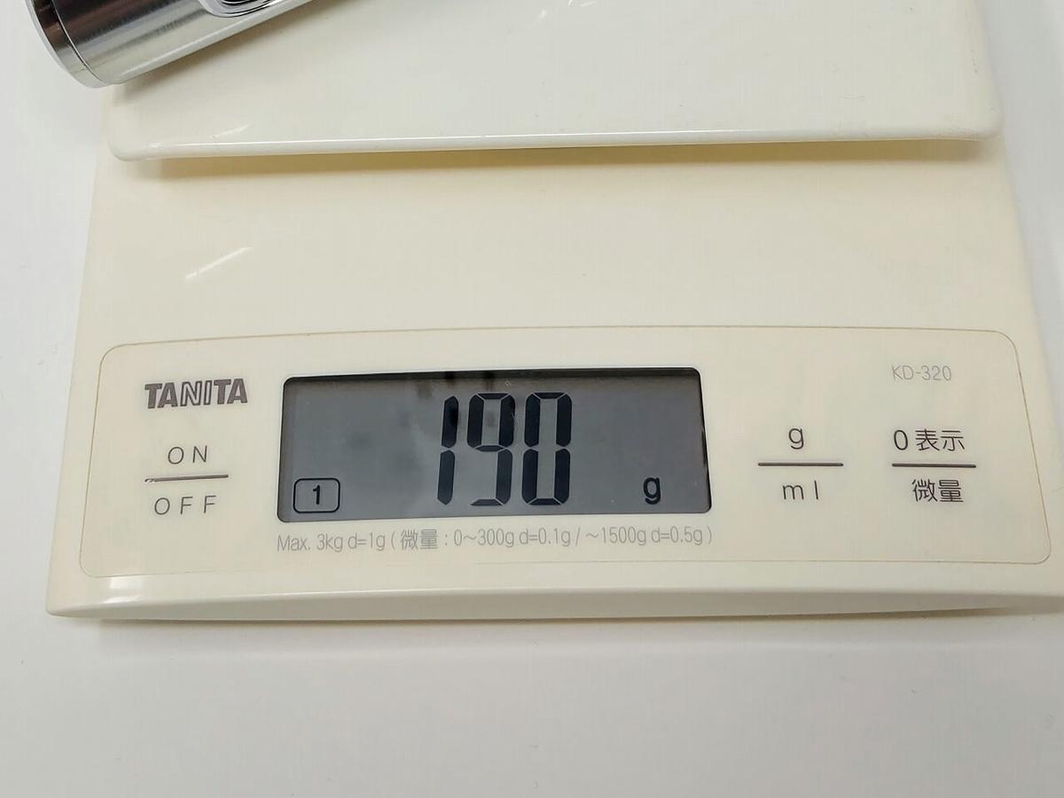S9000プレステージ重量190g