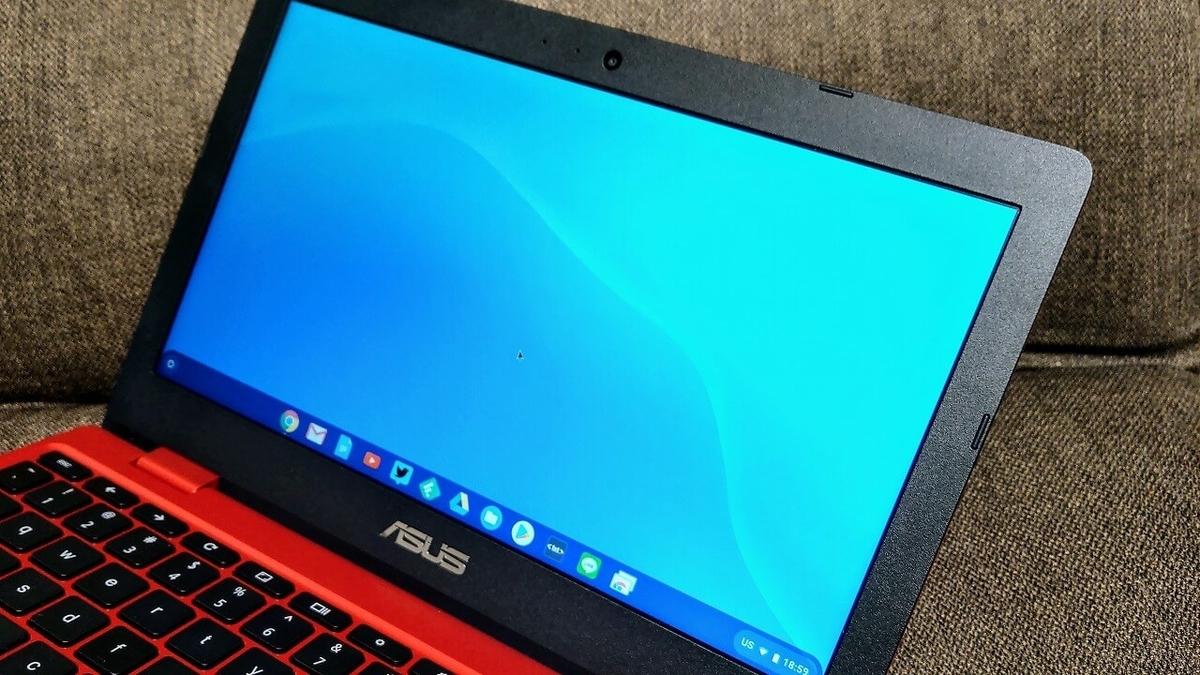 ASUS Chromebook C223NA レッド 液晶ディスプレイ