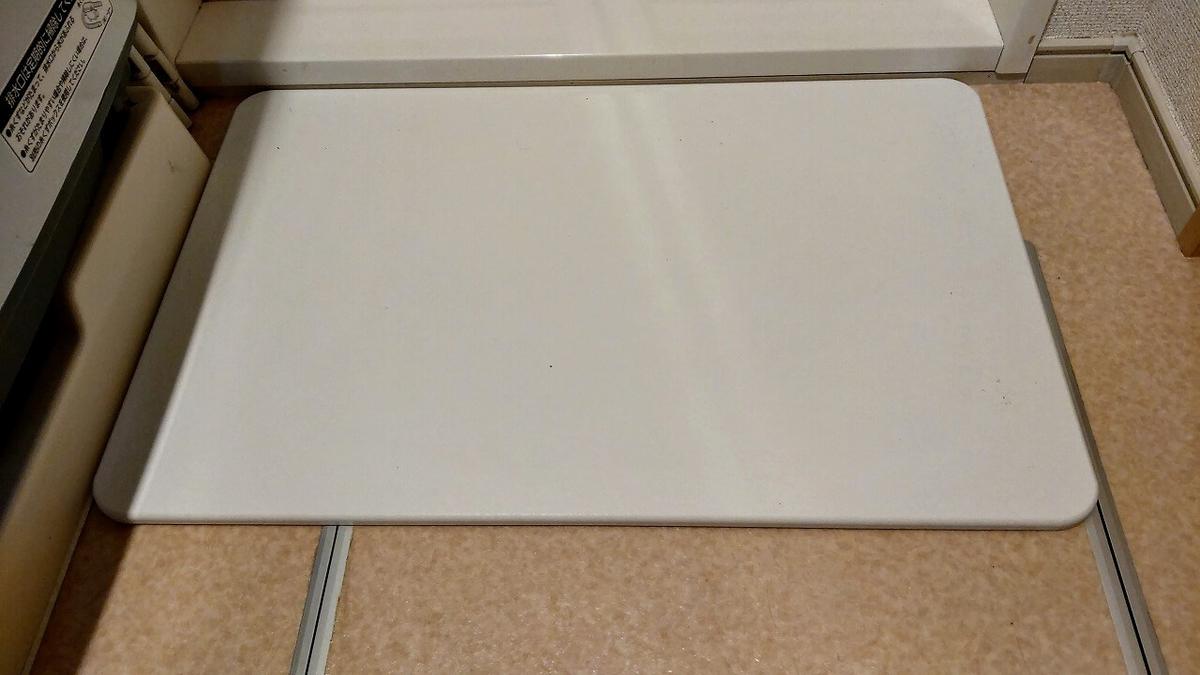浴室出口の段差に珪藻土バスマットを設置