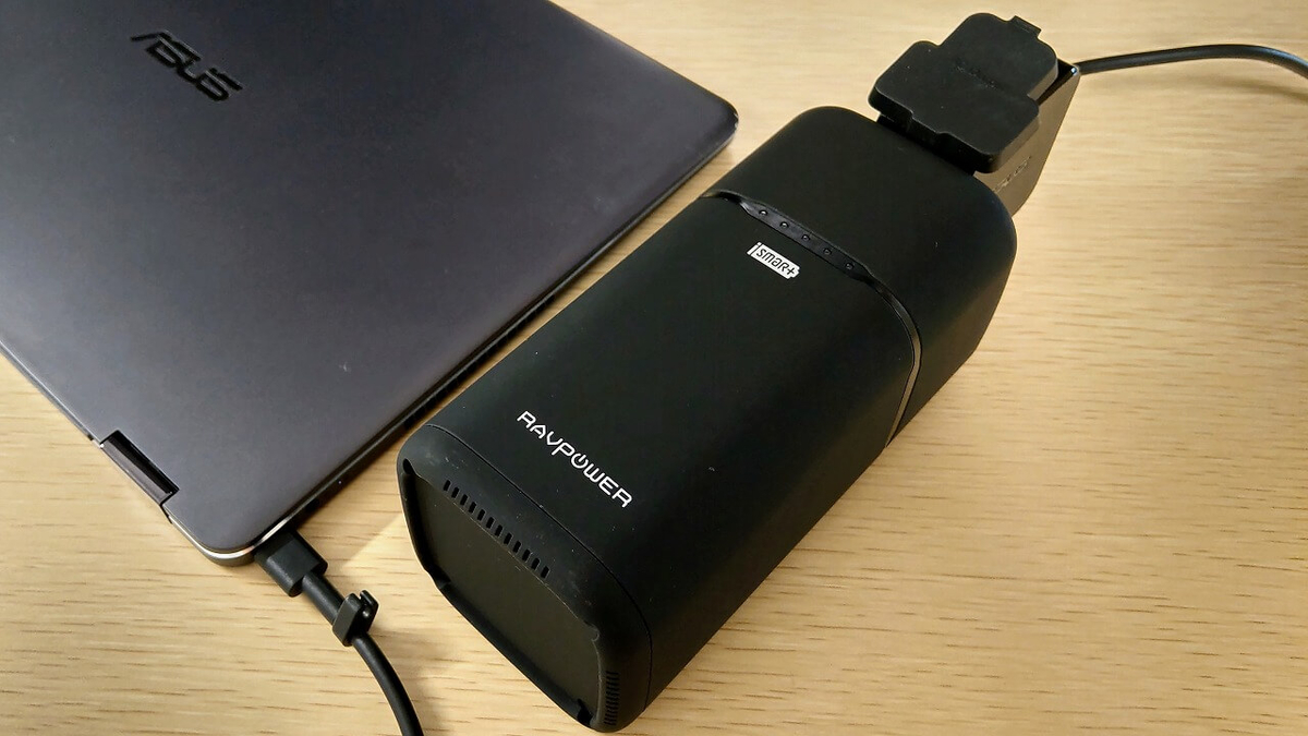 RAVPower RP-PB054にASUS ZenBook Flip Sを接続