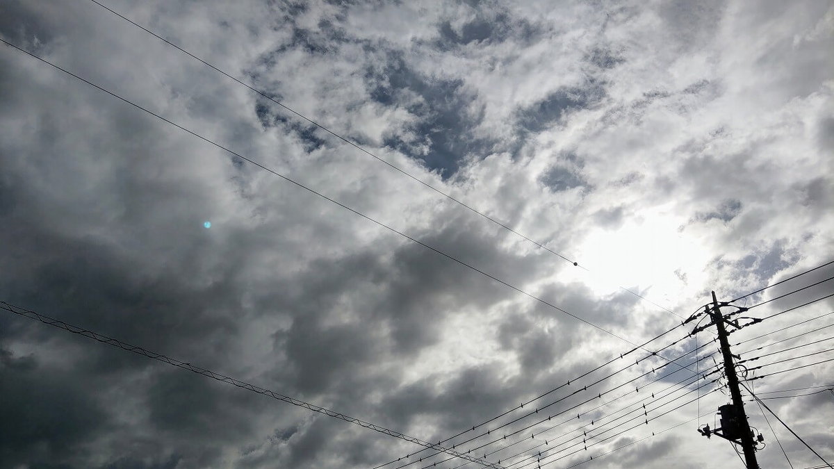 薄曇りの空