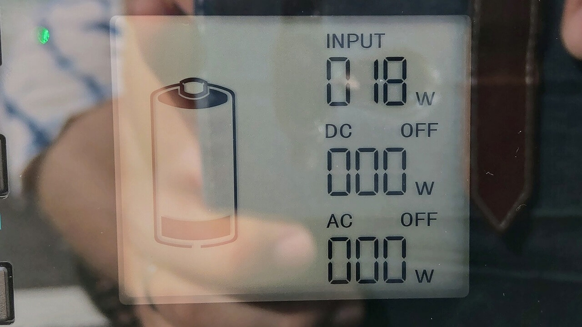 suaoki PS5B 120000mAh ポータブル電源を太陽光でソーラー充電(曇りの日)