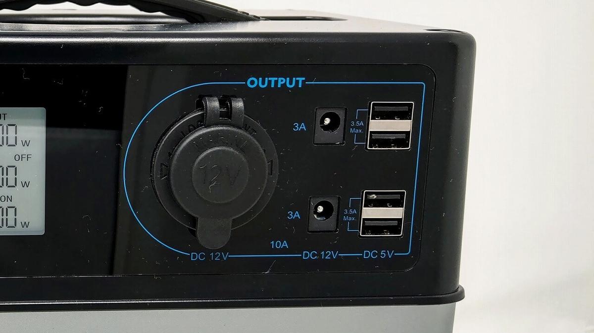 suaoki PS5B 120000mAh ポータブル電源 DC出力端子
