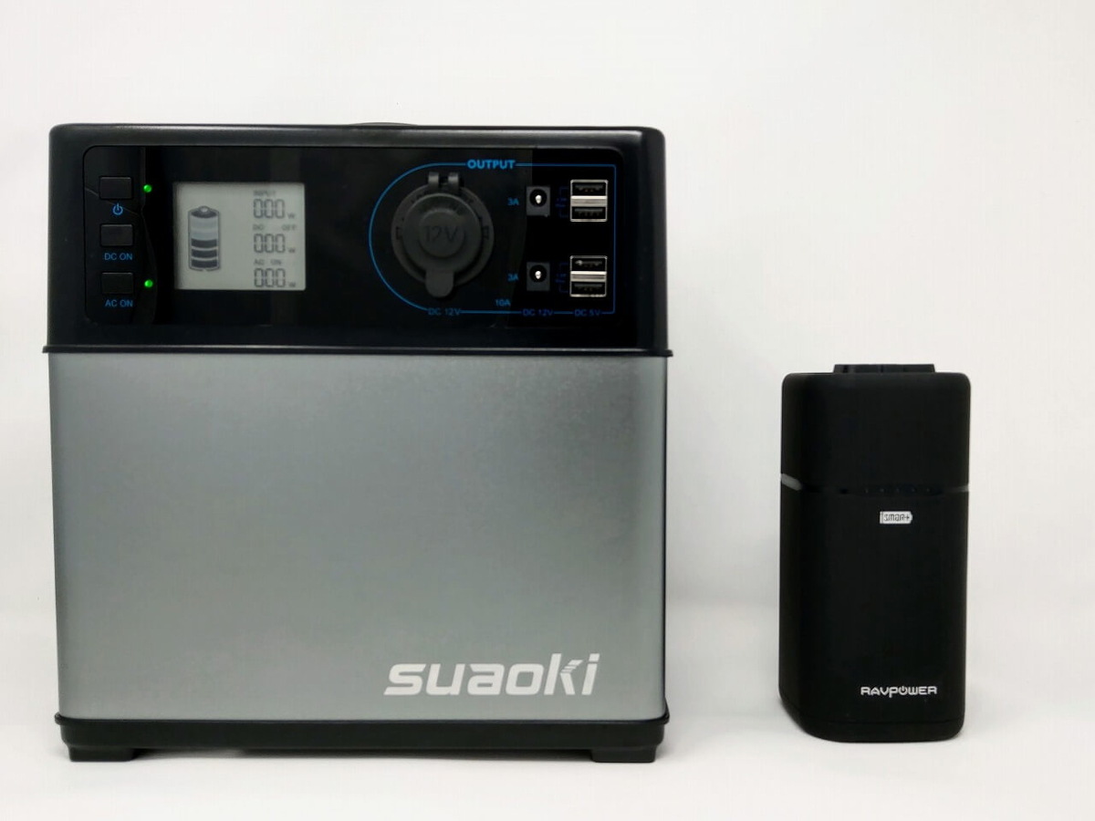 suoaki PS5BとRAVPower RP-PB054をサイズ比較(横から)