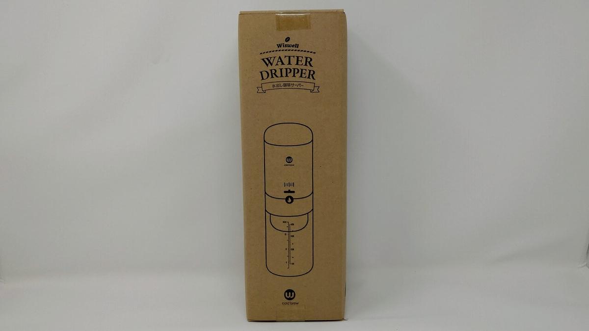 Wiswell コールドブリューコーヒーサーバー Water Dripper 外箱