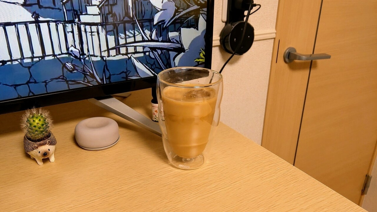Wiswell Water Dripperで抽出した水出しコーヒーを使ったカフェオレ