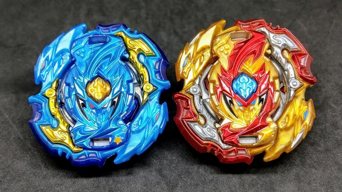 赤と青、2種類のロードスプリガン.Vn.Br