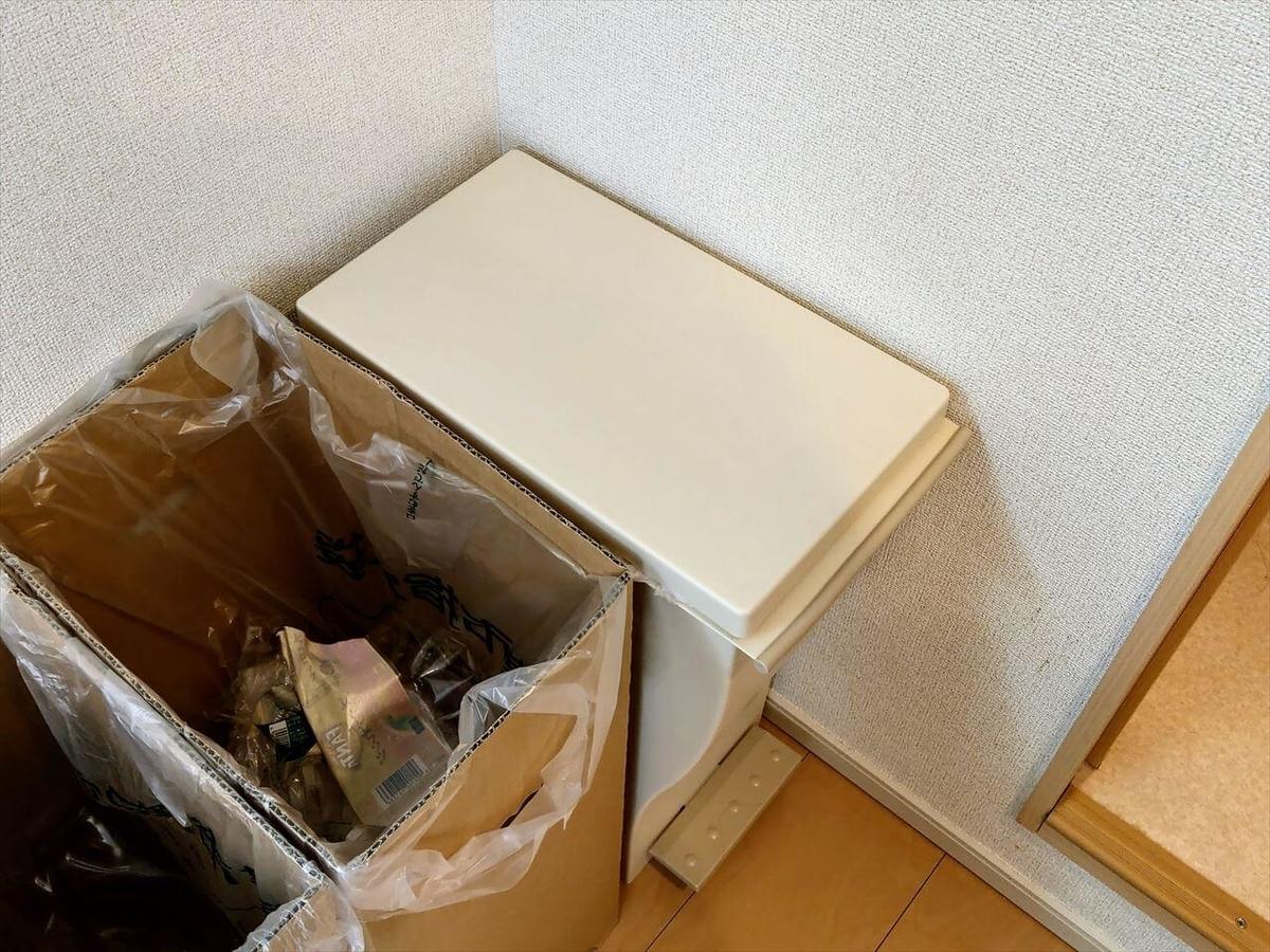 クード スリムペダル 30はシンプルな見た目でお部屋の雰囲気もすっきり